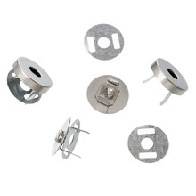 200 Sets Round Magnetic Purse Snap Clasps Closure 14mm Fermoir Silver Tone DIY Handbag Making