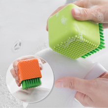 Mini Underwear Bra Cloth Brush Silicone Laundry with Soft Hair Cleaning Plastic Tools