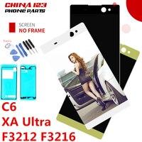 Warranty 6 0 LCD For SONY Xperia C6 XA Ultra LCD Display F3211 F3212 F3215 F3216