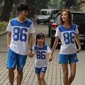 "3pcs ""86"" number summer style family mommy and me clothes father dad mom mothe baby child children clothing set clothes"