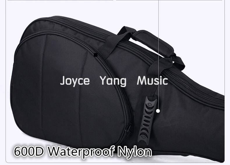 Astraea Black Electric Guitar Bag 600D Nylon Oxford 10mm Thick Sponge Electric Guitar Soft Case Gig Bag Free Shipping 2 pcs of new tenor trombone gig bag lightweight case black