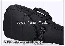 Astraea negro de la guitarra eléctrica del bolso 600D Nylon Oxford 10 mm esponja gruesa guitarra Soft Case estuche envío gratis