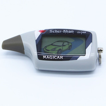 Rusia versión LCD remoto para Magicar 5 SCHER-KHAN M5 coche controlador remoto de 2 vías sistema de alarma de coche Magicar 5 Llavero