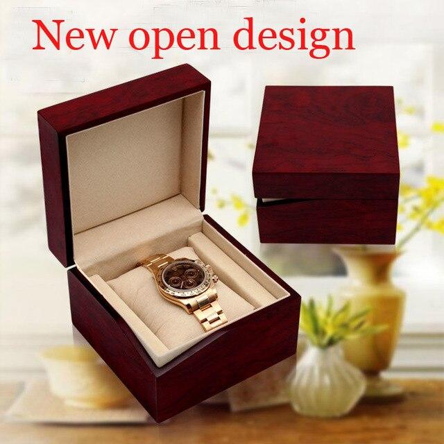 2019 new design open mouth gap wood watch box fashion breach case wholesale/retail custom logo blind shipping exw supply WBG1265