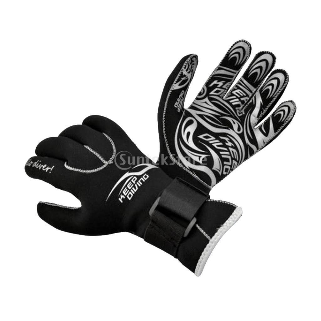 3mm Wetsuit Gloves Neoprene Swimming Diving SURFING GLOVES SIZE M Warm BLACK