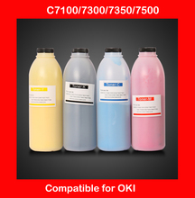 compatible for oki C7100 7300 7350 7500 refill color toner powder high quality printer color powder free shipping DHL