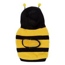 NOCM Warm Plush Bee Type Hoodie Pet Dog Cat Puppy Coat Sweater Outerwear Size S