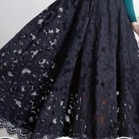 2018 Spring New Women Long Skirt Elegant Slim Lace Elastic Waist Skirts