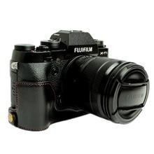 Pu Leather Camera Bottom Grip Case Half Cover For Fujifilm Fuji X-T2 XT2 mr stone brand genuine leather camera case half bag bodysuit for fujifilm xt3 xt3 fuji x t3 handmade camera bag