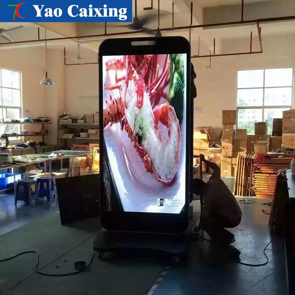 Customized Outdoor Waterproof Advertising Display Advertising Machine,P4/P5/P6 Column Type Color Waterproof Display Screen