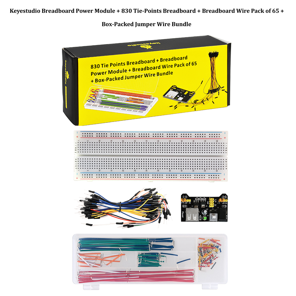 Breadboard 830 points 140 jumpers jumpers mb102 Power Supply Arduino Set Kit