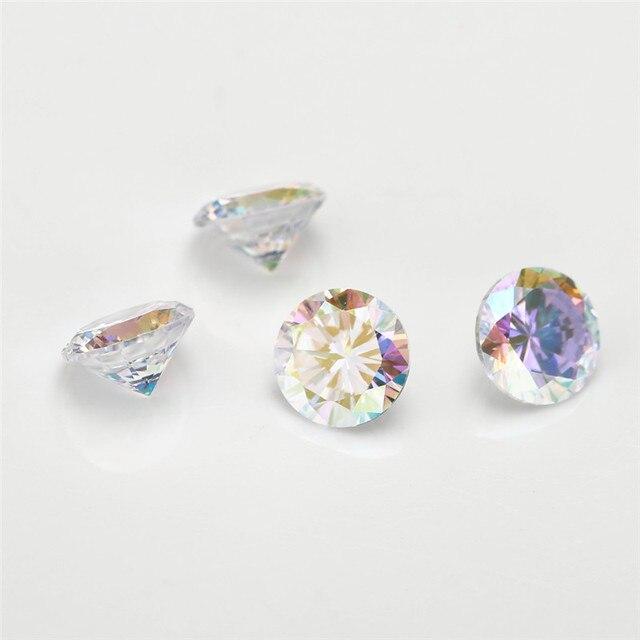 Фото размер 1 мм ~ 10 ab разноцветный кубический цирконий камень