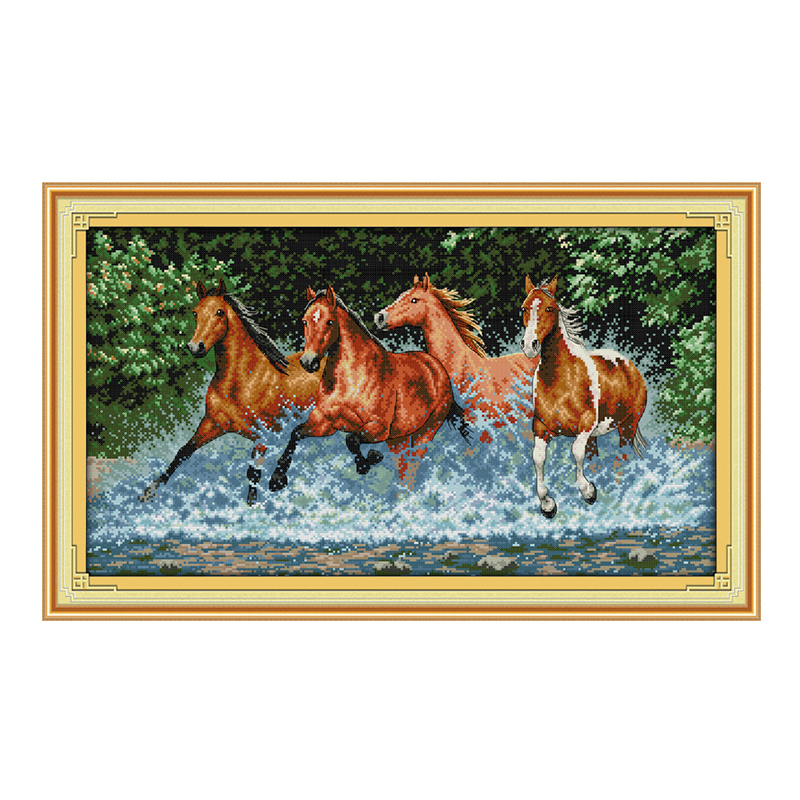 Bucătărie Duminică kituri de cusături de bricolaj Cai cai - Arte, meșteșuguri și cusut - Fotografie 1