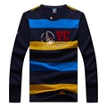 Tace & Shark 2017 Brand Clothing Sweater men 100 cotton Sweater business style pullover mens striped sweaters shark big XXXL