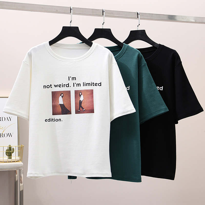 harajuku streetwear plus size graphic tees woemen t shirt summer 2019 korean style short sleeve fashionable top female shirts in T Shirts from Women 39 s Clothing