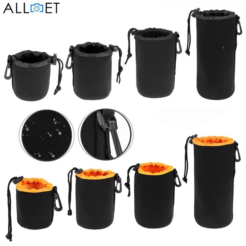 ALLOET Full Size S M L XL Neoprene Waterproof Soft Video Camera Storage Case Lens
