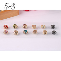 Ball Brooches Scarf Accessories For Women Rhinestones Magnet Brooch Muslin Headscarf And Collar Buckle Fashion Brooches