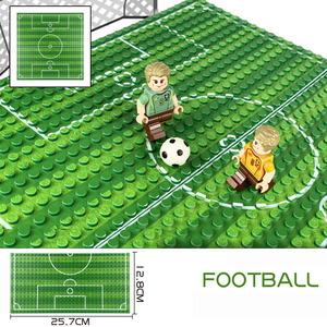Image 2 - 32*16 Football Basketball Base Plate Compatible Legoe Figures Court Baseplate DIY Building Blocks Bricks Toys For Children Gifts