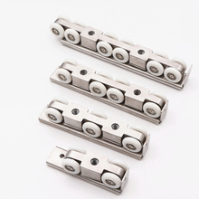 4/6/8/12 Wheels Stainless Steel Track Pulley Sliding Shower Door Rollers 2pcs pack 23mm 304 stainless steel bathroom door wheels shower door top rollers sliding wheels for sliding shower doors j3