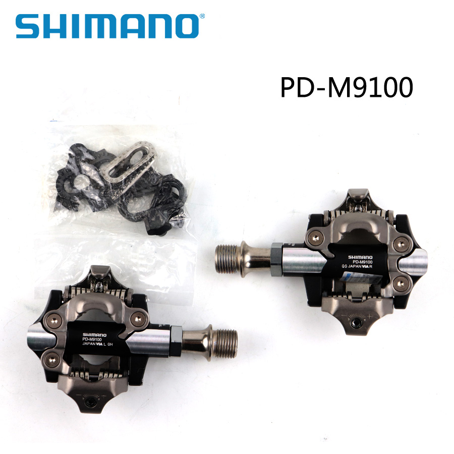 Les pédales de vélo de montagne SHIMANO XTR PD-M9100 boîte d'origine SPD comprennent des pièces de vélo SM-SH51