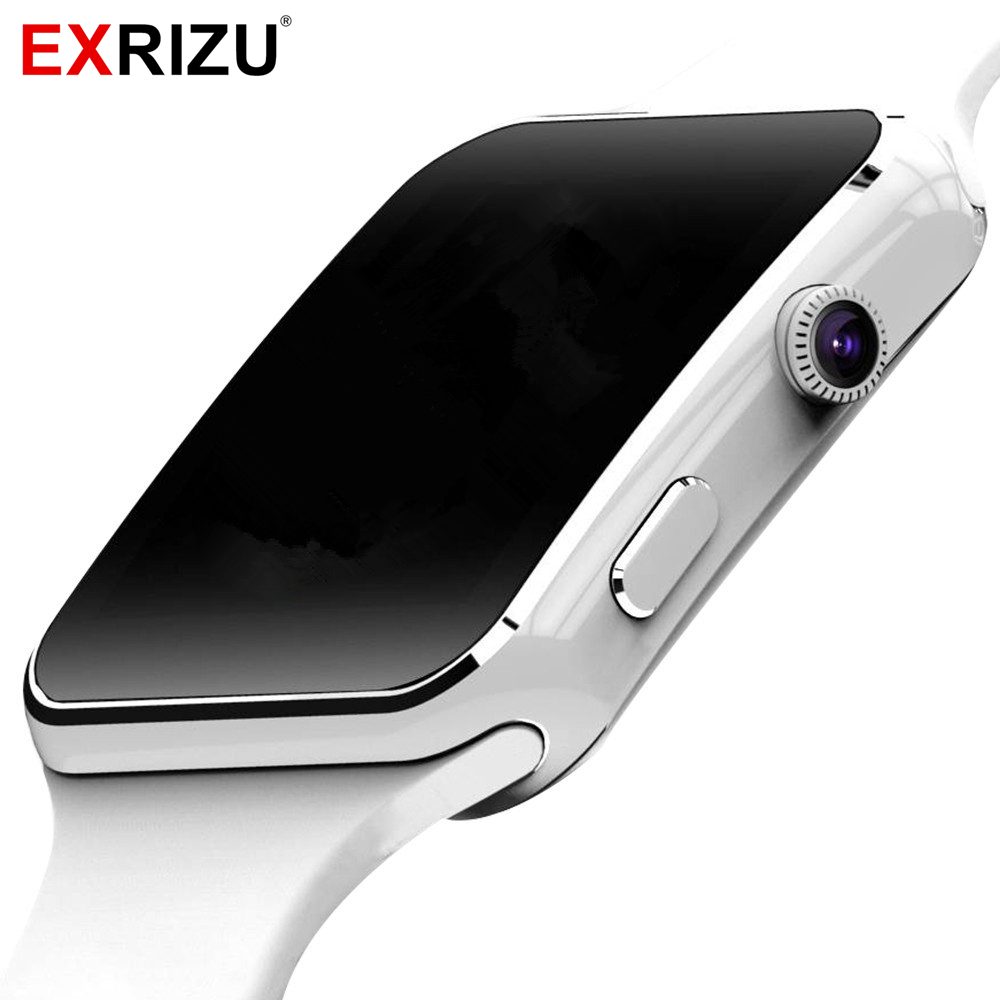 EXRIZU Fashion Smart Watch Phone 1.54 HD OGS Bracelet Support SIM 32GB TF Card Whatsapp Bluetooth Smartwatch for Android Phone zaoyiexport l6 bluetooth smart watch support sim tf card hebrew language smartwatch for iphone xiaomi android phone pk dz09 gt08