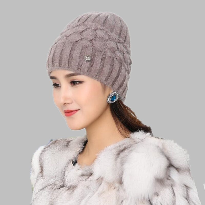 Free shipping Women Spring Autumn Watch Cap Woman Wool Knit Beanie Cap Braided Hat skull winter hats for women Girls warm hat free shipping 2016 new 1pcs wholesale diamond grid stripe knit cap man and a woman in winter warm hat 100% quality assurance