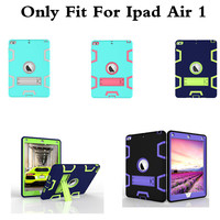 Kids Safe Coloful Case For Apple Ipad 5 Ipad Air 1 Amor Heavy Shockproof Drop Resistance