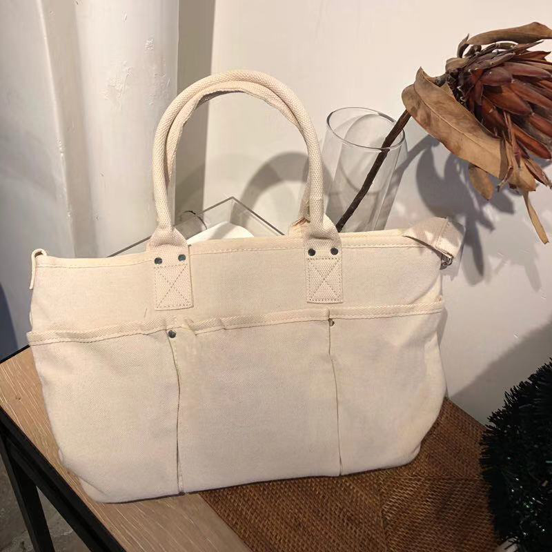 Casual Canvas Large Handbags Women Bags Designer Student Pockets Tote Brand Ladies Hand Bags Shopping Bag Vintage Messenger Bag Сумка