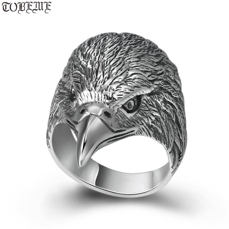 Handmade 100% 925 Silver Cool-Eagle Ring 925 Sterling Power-Eagle Man Ring 925 Silver Cocktail RingHandmade 100% 925 Silver Cool-Eagle Ring 925 Sterling Power-Eagle Man Ring 925 Silver Cocktail Ring