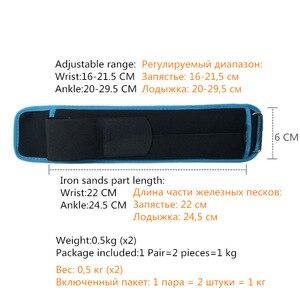 Image 3 - 1 4キロ/ペア調節可能な手首足首重み砂鉄バッグ重みとストラップ用のためのランニング