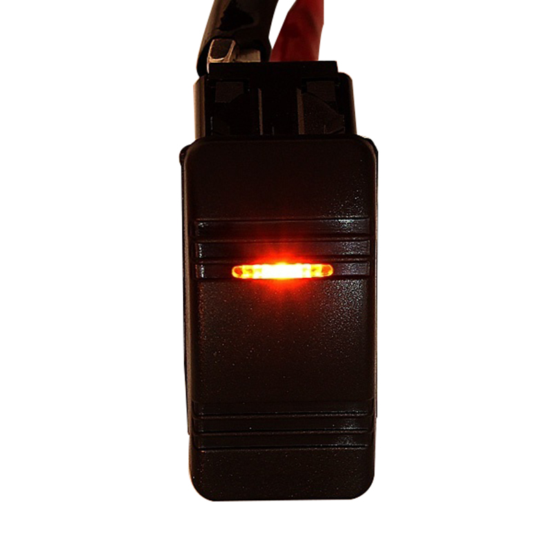 CNIM Hot 12V Car Boat Rocker LED Light Illuminated SPST ON-OFF Switch Waterproof Marine Yellow 5pcs red rocker boat switch illuminated neon light dpst 4pins 2positions on off 19x13mm snap in panel mount 10a 125vac 6a 250v