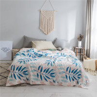 Tropical Green Leaves Quilted Warm Bedding Comforter Bedspread Adult's Bed Cover Summer Sleeping Throws Blanket Quilts 200*230cm