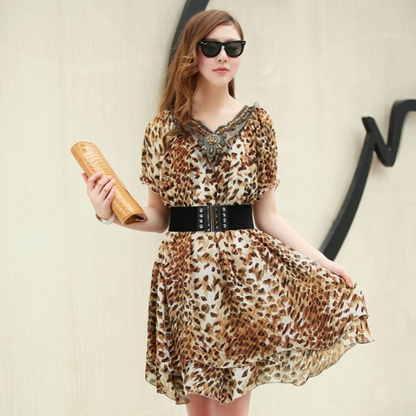 Free shipping 2013 summer new fashion v-neck with sashes women's casual dress 737