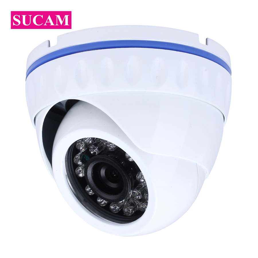 SUCAM Full HD 1080P IP Indoor Camera Dome Infrared ONVIF P2P Night Vision XMEye APP Network Security Camera-IP for Home hd 720p ip camera onvif black indoor dome webcam cctv infrared night vision security network smart home 1mp video surveillance