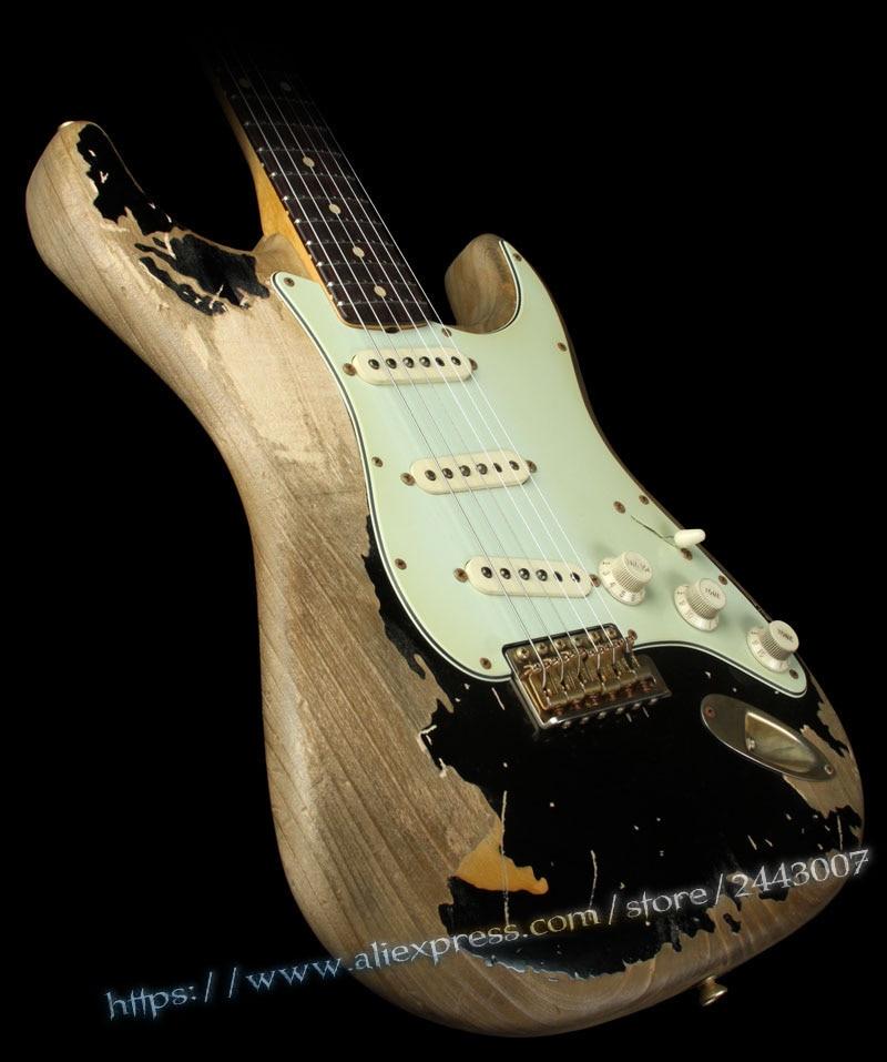 GC Custom Shop Masterbuilt John Cruz & John Mayer BLACK1 Tribute Electric Guitar