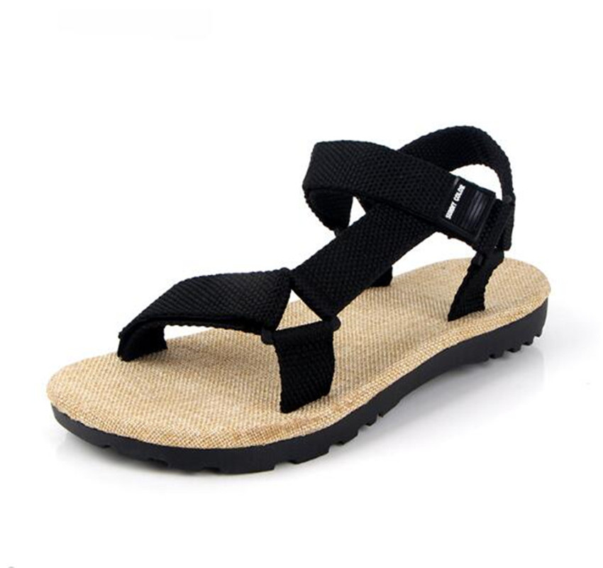5ba3db332b7a ... Sandals men s summer 2018 new linen lovers casual shoes non-slip Korean fashion  trend wild beach shoes. -7%. Click to enlarge