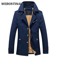 WEBONTINAL Winter Warm Male Jacket Men Windbreakers Casual Coats Quality Cotton Thicken Jakcets Windrunner For Lapel