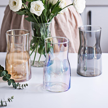 Creative Colour Glass vase Crafts glass terrarium small flower vases for centerpieces for weddings flower bottle vase decoration
