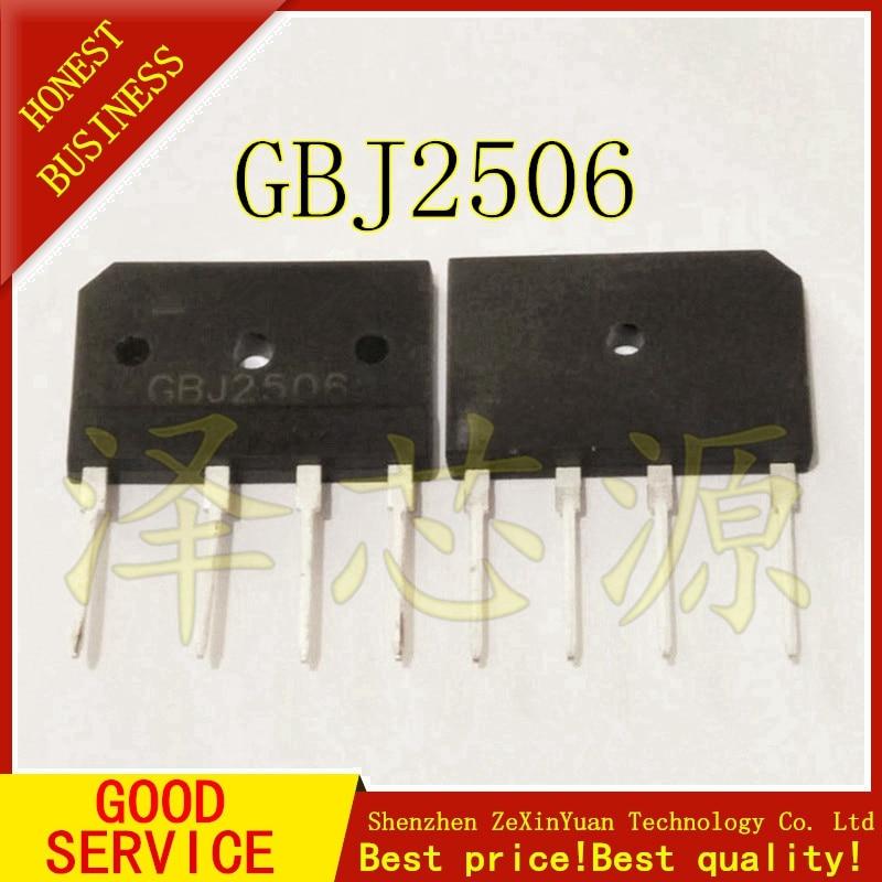 5PCS/LOT GBJ2506 25A 600V
