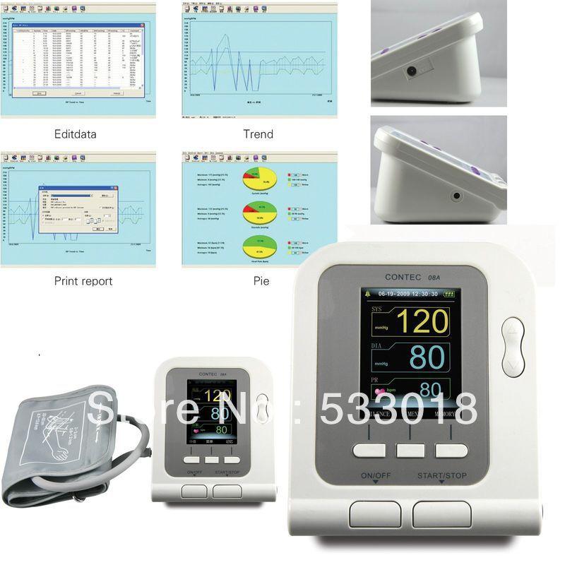 FREE SHIPPING CONTEC CONTEC08A Digital Blood Pressure Monitor contec contec08a ce