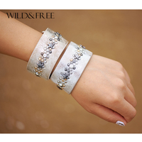 2 Colors PU Leather Bracelets Women Jewelry Fashion Wide Cuff Bracelets Bangles Pulseiras Feminina Punk Bracelet