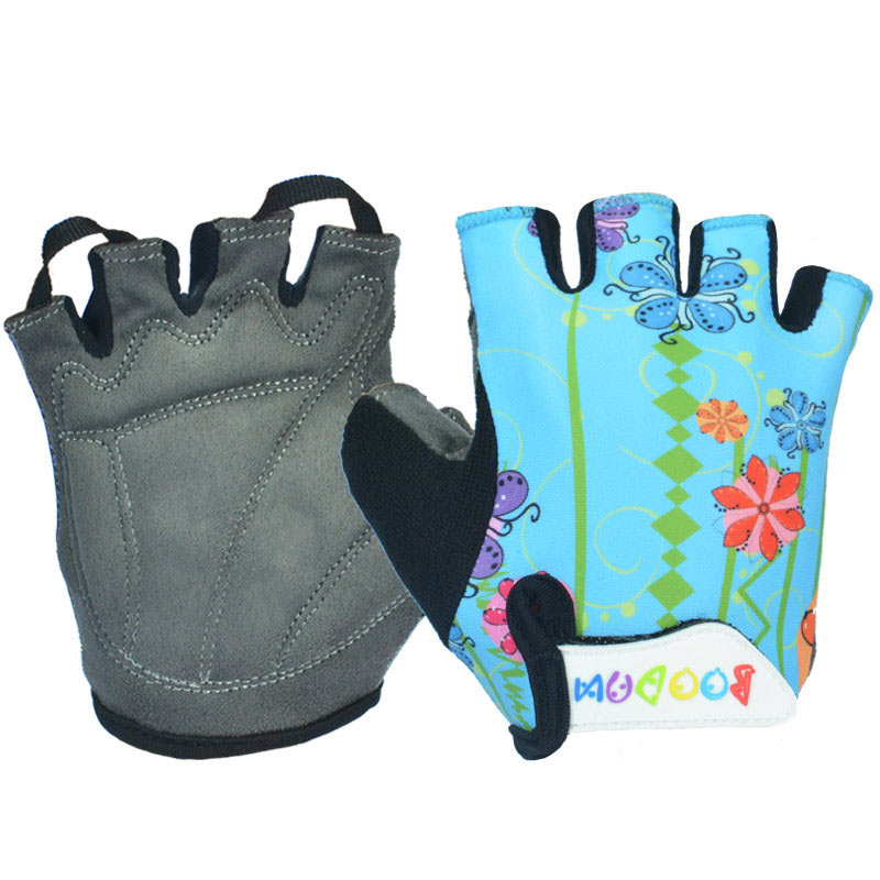 Outdoor Sports Cycling gloves Cartoon Breathable Non-slip Children's Gloves For Boys Girls 6-10 Years Old Baby Ridding Gloves