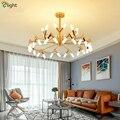 Современная v-образная светодиодная люстра G9 для гостиной  Золотая/черная люстра  Подвесная лампа  Lustre Luminarias Lamparas