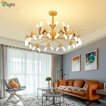 Post Modern V shaped G9 Led Chandelier For Living Room Gold/Black Chandelier Lighting Hanging Lamp Lustre Luminarias Lamparas