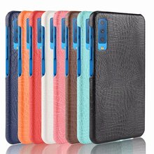 For Samsung Galaxy A7 2018 A 750 Case Luxury Retro Crocodile Cool Leather Pattern Back Cover A750