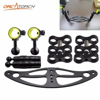 Orcatorch Camera Tray Underwater Ball Joint Bracket Arm Diving Torch Photography Fill Lights And Camera Holder