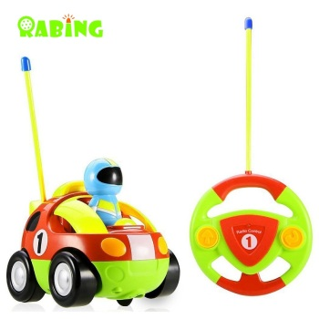 RC Car Rabing Cartoon Race Car with Action Figure Radio Control Toy with Music Best Gift for Kids RC Car radio-controlled car