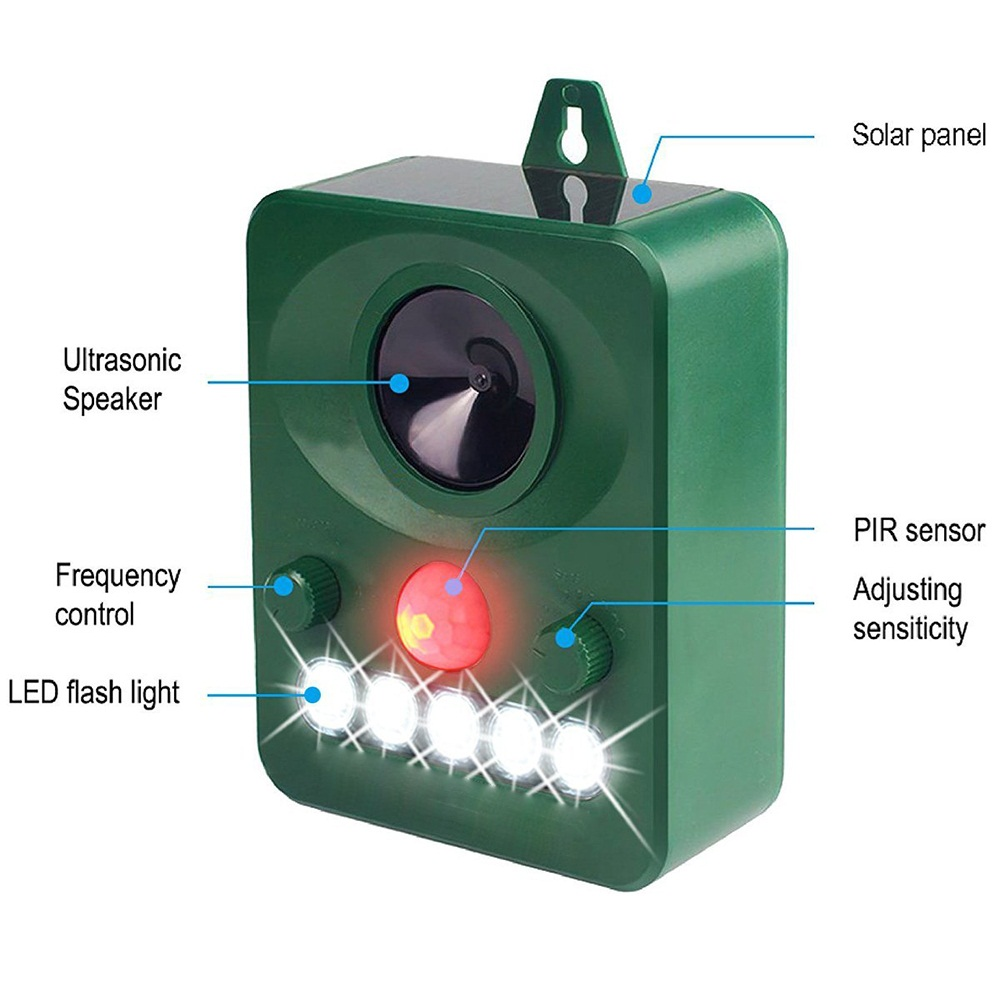 Image 3 - 45MA (HZ) Solar Powered Ultrasonic Outdoor Pest Animal Repeller Activated Repellent Pest Animal Control Rodent Garden supplies-in Repellents from Home & Garden