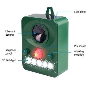 Image 3 - 45MA (HZ) Solar Powered Ultrasonic Outdoor Pest Repeller สัตว์เปิดใช้งาน Repellent Pest สัตว์ควบคุมหนูสวนอุปกรณ์