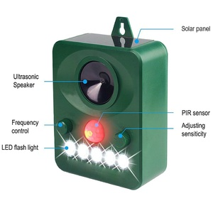 Image 3 - 45MA (HZ) ソーラー超音波屋外害虫動物リペラー活性化忌避害虫動物管理齧歯類ガーデン用品